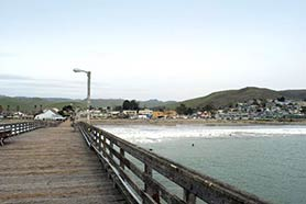 view from cayucos pier
